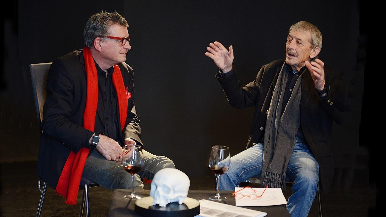 Dr. med. Alois Birbaumer (r.) und DeinAdieu-Autor Martin Schuppli beim Gespräch über die Selbstbestimmung in der letzten Lebensphase.