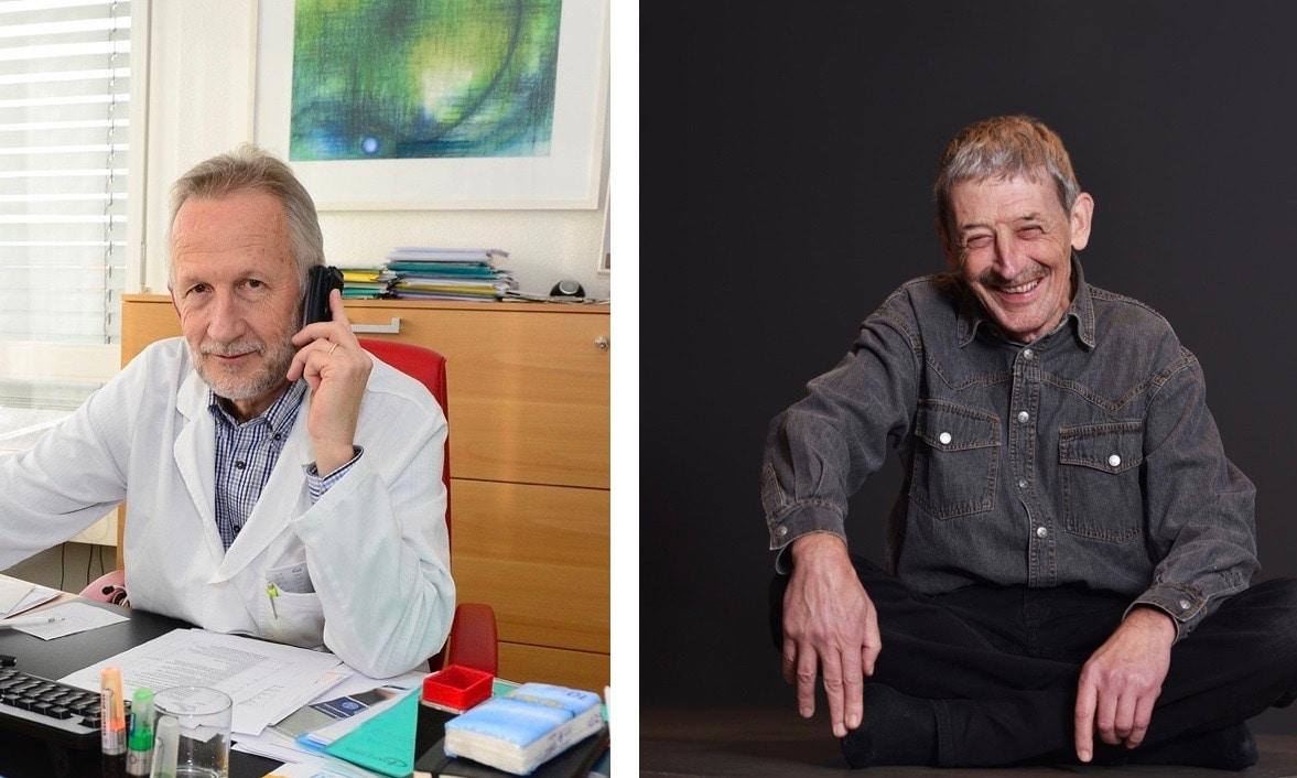 Dr. med. Roland Kunz (l.) und Dr. med. Alois Birbaumer sind Beiräte von DeinAdieu.ch.