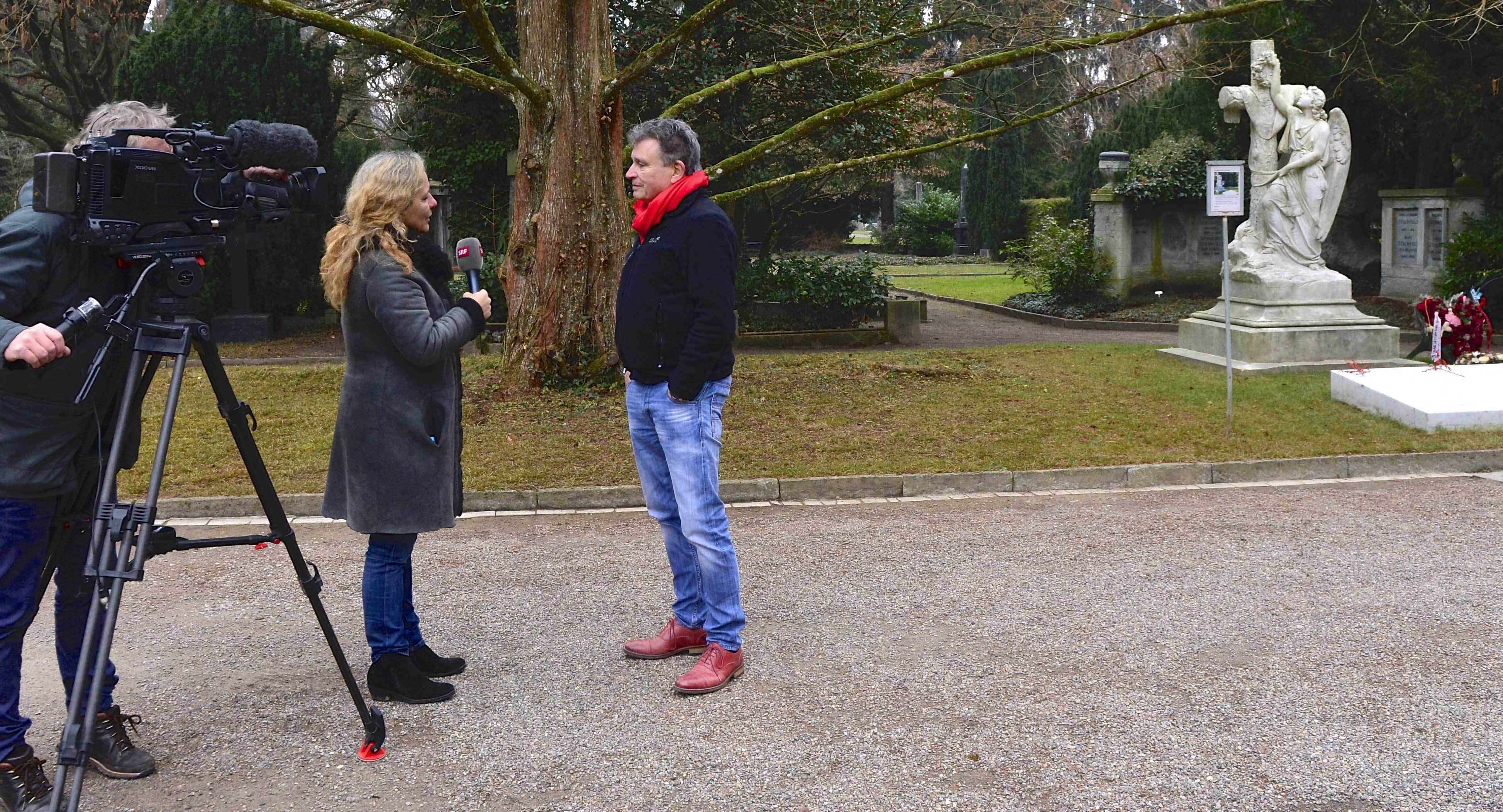 TV-Team dreht Film über Martin Schuppli