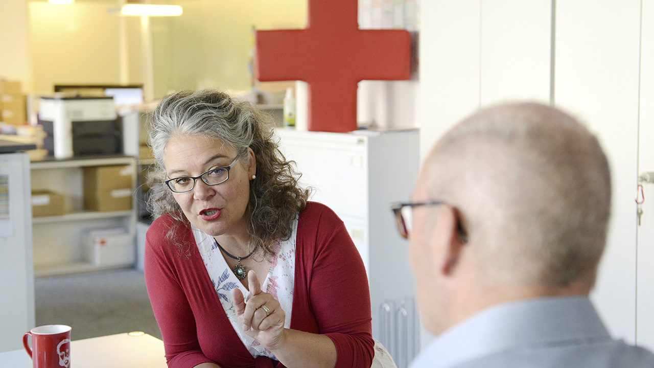 Lea Moliterni, collectrice de fonds, Croix-Rouge suisse du canton de Zurich