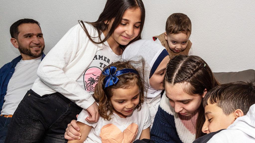 Flüchteten aus Syrien: Hussein Darwish und Familie