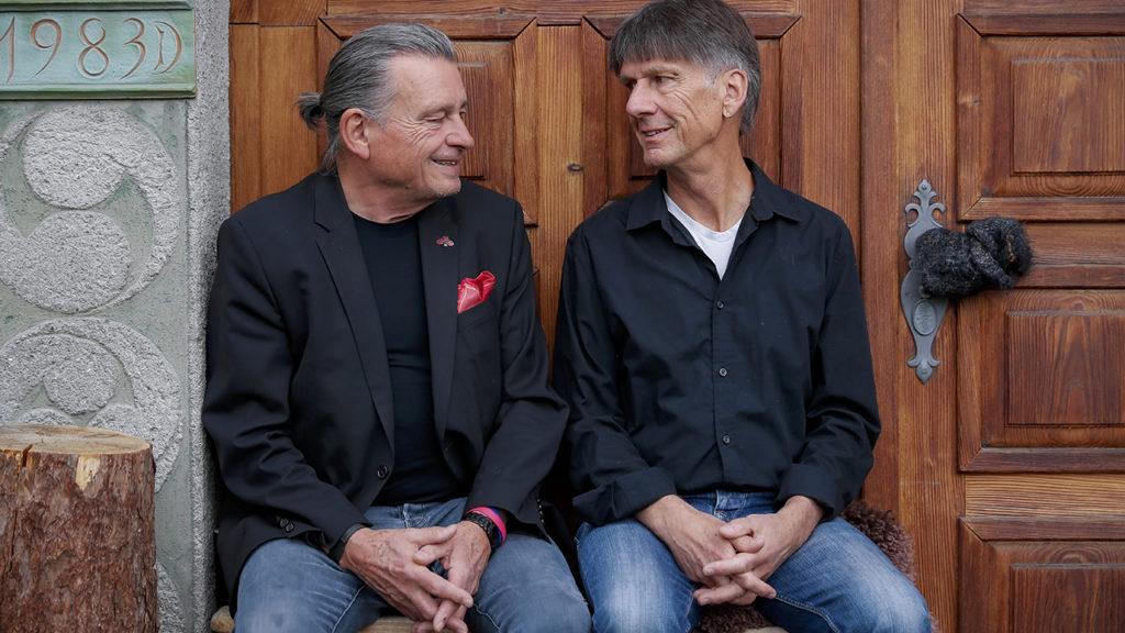 Philipp Zumbühl mit DeinAdieu-Autor Martin Schuppli